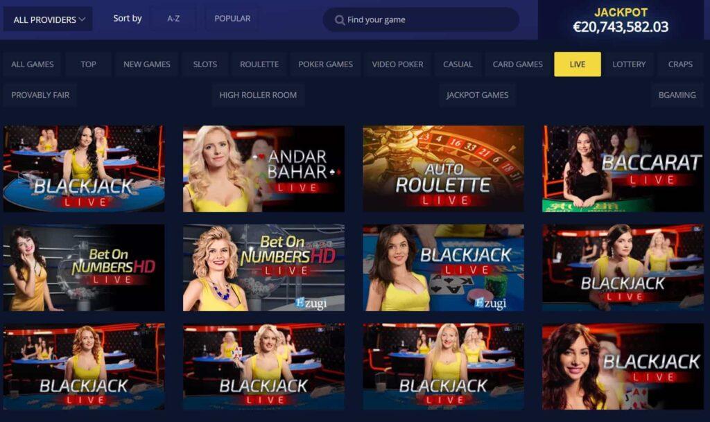 betchain live casino