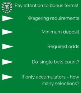 betting bonuses infographic