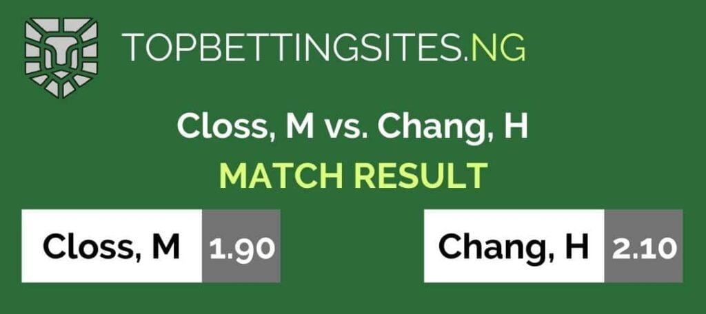 tennis match result market